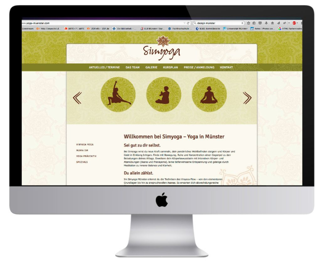 Simyoga-Web-Design