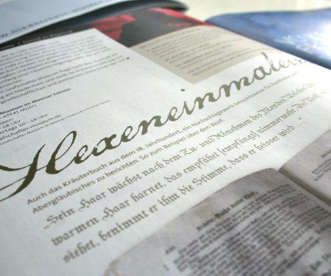 Museumsmagazin-Typografie