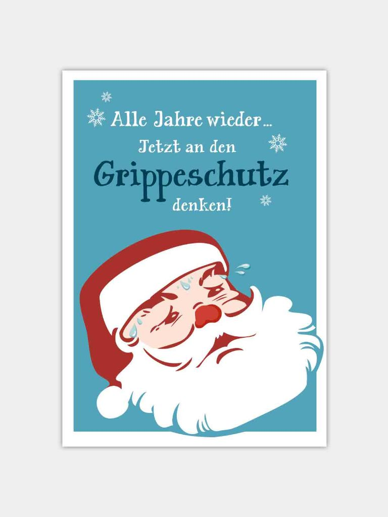 Grippeimpfung-Kampagne-Postkarte-Design
