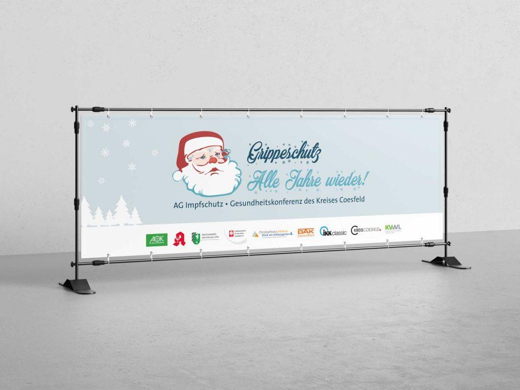 Grippeschutz Kampagne Kreis Coesfeld Banner
