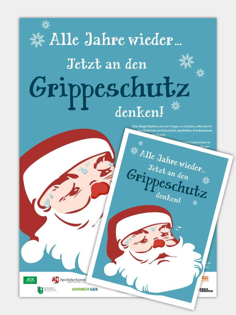 Grippeimpfung-Kampagne-Poster-Design