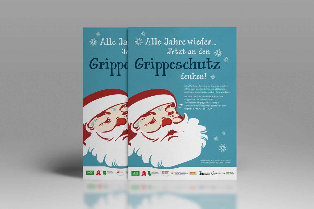 Grippeschutz Kampagne Info-Postkarten