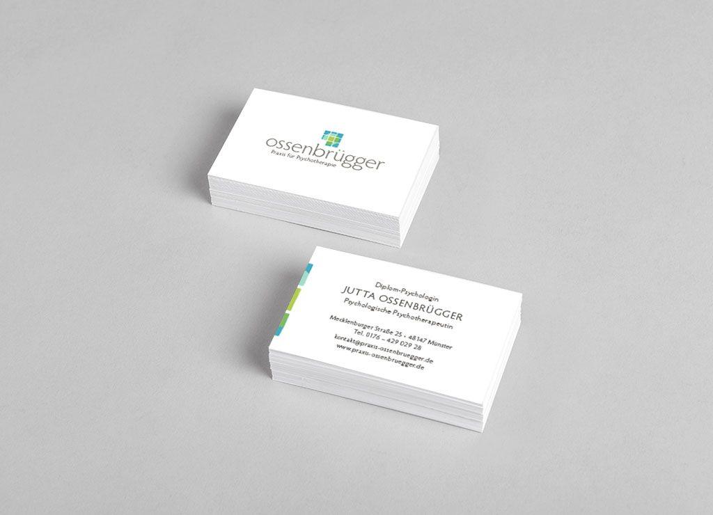 Visitenkarten Ossenbruegger Mockup Nur Design Text