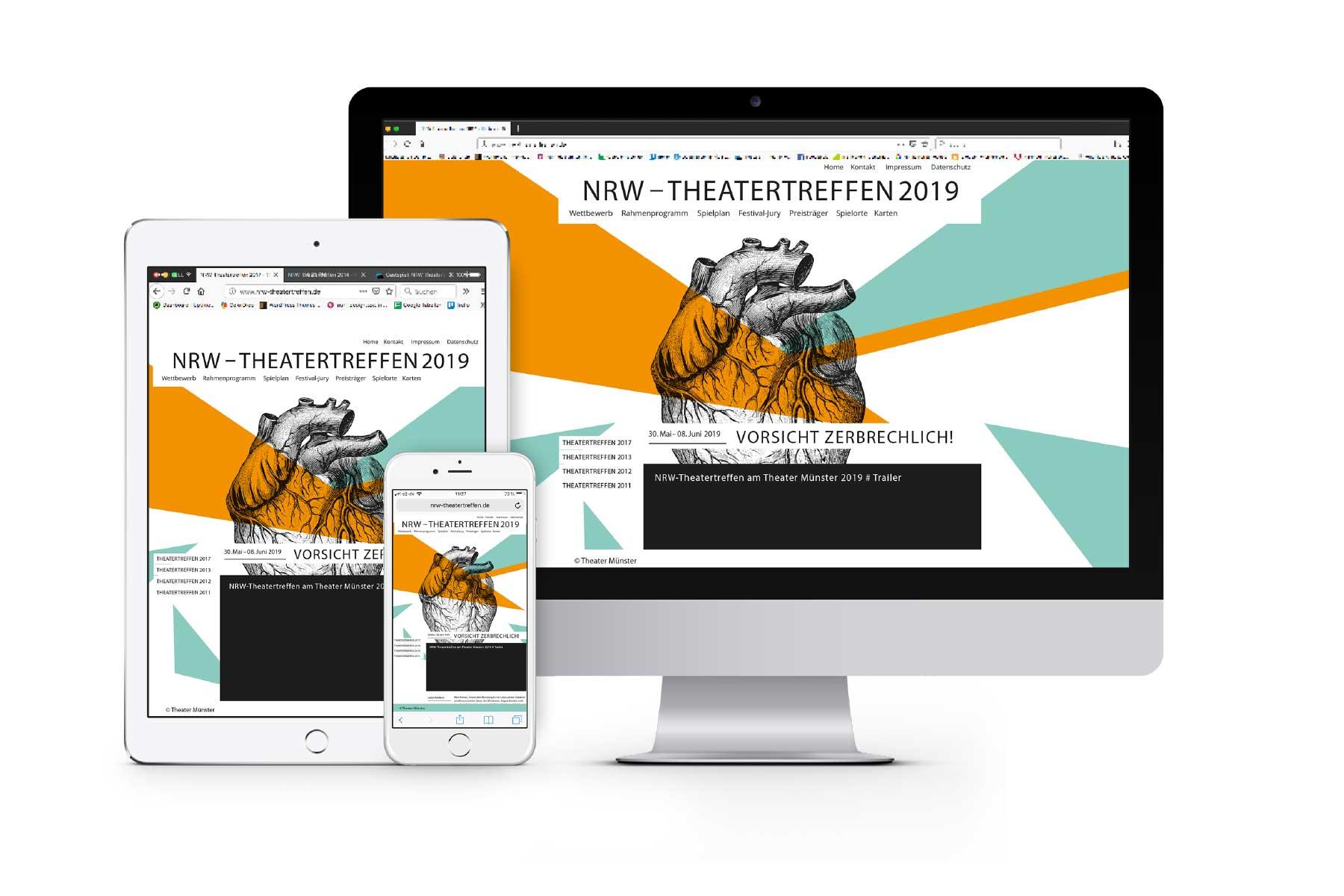 Theatertreffen NRW Responisve Web