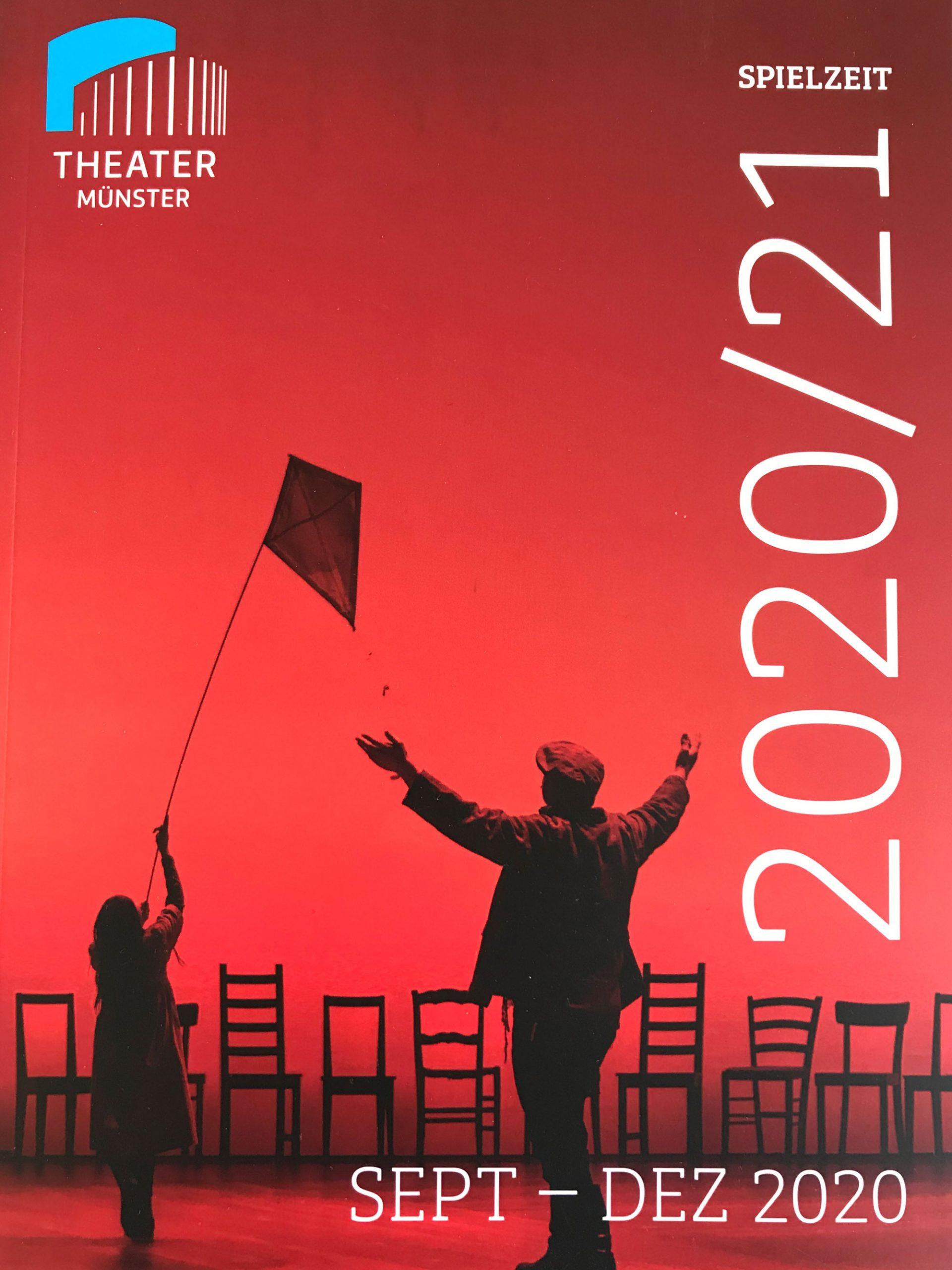 Titel des Spielzeitheftes des Theater Münster 2020/21